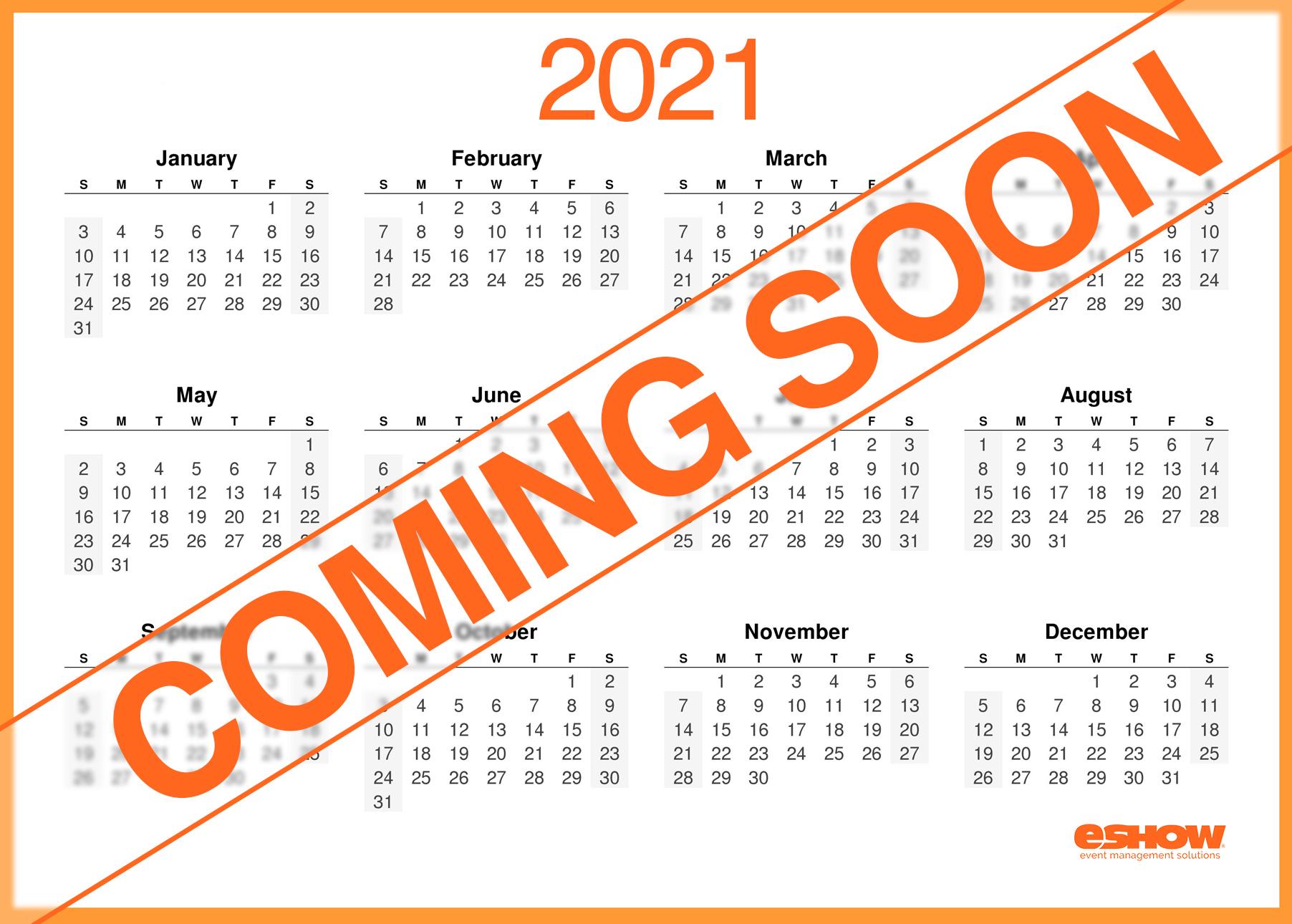 eShow Coming Soon Calendar Image